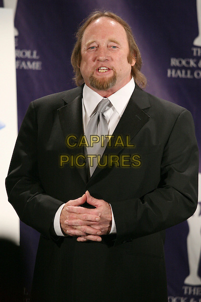 STEPHEN MILLS (paid tribute to Ahmet Ertegun).At the 2007 Rock & Roll Hall of Fame Induction Ceremony held at the Waldorf Astoria Hotel, New York, NY, USA,.March 12, 2007..half length black jacket goatee facial hair hands .CAP/LNC/TOM.©LNC/Capital Pictures.