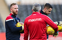 Bolton Wanderers' Ben Alnwick, Lee Butler and Remi Matthews<br /> <br /> Photographer Andrew Kearns/CameraSport<br /> <br /> The EFL Sky Bet Championship - Hull City v Bolton Wanderers - Tuesday 1st January 2019 - KC Stadium - Hull<br /> <br /> World Copyright © 2019 CameraSport. All rights reserved. 43 Linden Ave. Countesthorpe. Leicester. England. LE8 5PG - Tel: +44 (0) 116 277 4147 - admin@camerasport.com - www.camerasport.com