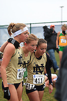 November 24 2008: Notre Dame in the NCAA Cross Country Championship in Terra Haute, IN.
