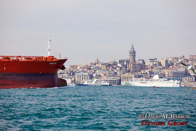 Oil Tanker & Galata Tower