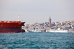 Oil Tanker & Galata Tower