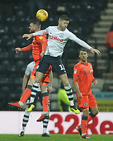 Preston North End's Paul Gallagher jumps with Millwall's Ryan Tunnicliffe<br /> <br /> Photographer Mick Walker/CameraSport<br /> <br /> The EFL Sky Bet Championship -  Preston North End v Millwall - Saturday 15th December 2018 - Deepdale-Preston<br /> <br /> World Copyright © 2018 CameraSport. All rights reserved. 43 Linden Ave. Countesthorpe. Leicester. England. LE8 5PG - Tel: +44 (0) 116 277 4147 - admin@camerasport.com - www.camerasport.com