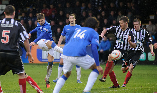 Kyle Hutton rounds off the scoring by blasting in goal no 6 and his first ever senior goal for Rangers