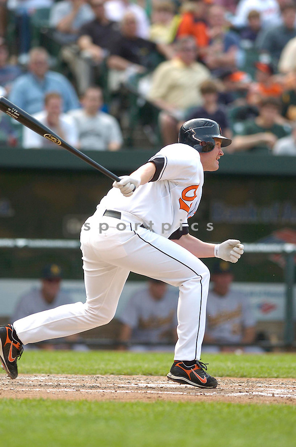AUBREY HUFF, of the Baltimore Orioles, in action during the  Orioles game against the Oakland A's in Baltimore Maryland on April 24, 2007...A's win 4-2...DAVID DUROCHIK / SPORTPICS..