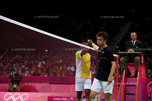 Kenichi Tago (JPN), .JULY 30, 2012 - Badminton : .Men's singles group stage Group C badminton match .at Wembley Arena .during the London 2012 Olympic Games in London, UK. .(Photo by Koji Aoki/AFLO SPORT)