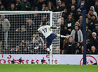 30th November 2019; Tottenham Hotspur Stadium, London, England; English Premier League Football, Tottenham Hotspur versus AFC Bournemouth; Moussa Sissoko of Tottenham Hotspur scores in 66th minute 3-0 - Strictly Editorial Use Only. No use with unauthorized audio, video, data, fixture lists, club/league logos or 'live' services. Online in-match use limited to 120 images, no video emulation. No use in betting, games or single club/league/player publications
