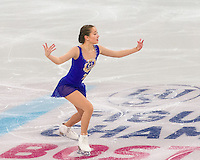 Boston, Massachusetts - March 31, 2016: ISU World Figure Skating Championships Boston 2016 - Ladies SP, at TD Garden.
