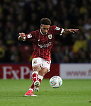 Bristol City's Freddie Hinds scoring his sides opening goal during the Carabao cup match at Vicarage Road Stadium, Watford. Picture date 22nd August 2017. Picture credit should read: David Klein/Sportimage
