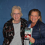 """Guiding Light's Kim Zimmer poses with costar Jane Mandel as they star in """"Old Love New Love"""" - A World Premiere - on May 7, 2016 at Luna Stage, West Orange, New Jersey. (Photo by Sue Coflin/Max Photos)"""