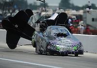 Apr. 28, 2012; Baytown, TX, USA: NHRA funny car driver Bob Bode during qualifying for the Spring Nationals at Royal Purple Raceway. Mandatory Credit: Mark J. Rebilas-