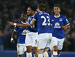 Ashley Williams of Everton celebrates scoring the winning goal during the English Premier League match at Goodison Park Stadium, Liverpool. Picture date: December 13th, 2016. Pic Simon Bellis/Sportimage