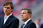Nederland, Amsterdam, 13 september 2014<br /> Eredivisie<br /> Seizoen 2014-2015<br /> Ajax-Heracles<br /> John Stegeman, trainer-coach en Brian van Loo, keeperstrainer van Heracles.