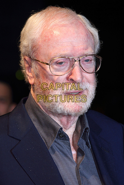 Sir Michael Caine<br /> BFI London Film Festival Gala Screening of 'The Double' at the Odeon West End Leicester Square, London, England.<br /> October 12th 2013<br /> headshot portait blue shirt grey gray glasses beard facial hair    <br /> CAP/ROS<br /> &copy;Steve Ross/Capital Pictures