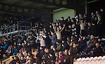 St Mirren 4 The New Saints 1, 19/02/2017. Paisley 2021 Stadium, Scottish Challenge Cup. Home fans celebrate their team taking the lead during the second-half at the Paisley2021 Stadium as Scottish Championship side St Mirren (in white) played Welsh champions The New Saints in the semi-final of the Scottish Challenge Cup for the right to meet Dundee United in the final. The competition was expanded for the 2016-17 season to include four clubs from Wales and Northern Ireland as well as Scottish Premier under-20 teams. Despite trailing at half-time, St Mirren won the match 4-1 watched by a crowd of 2044, including 75 away fans. Photo by Colin McPherson.