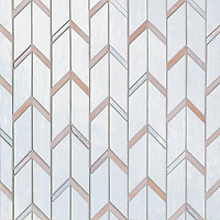 Belen, a waterjet jewel glass mosaic, shown in Mirror and Champagne.