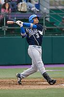 April 27, 2008: UCLA shortstop Brandon Crawford at bat against the University of Washington at Husky Ballpark in Seattle, Washington.