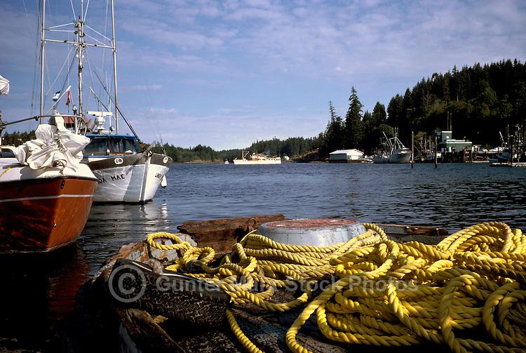 Quadra Island, BC, British Columbia, Canada - Fishing Boats docked at Quathiaski Cove