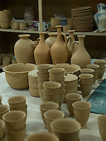 Pottery workshop in Qasr Iraq El-Amir, Jordan.