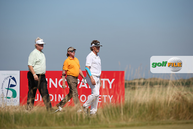 Bernhard Langer (GER) cool and collected extends his lead during Round Two of the 2014 Senior Open Championship presented by Rolex from Royal Porthcawl Golf Club, Porthcawl, Wales. Picture:  David Lloyd / www.golffile.ie