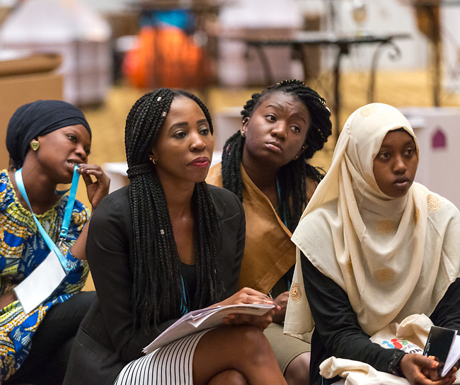 27 June, 2018, Kuala Lumpur, Malaysia : Participants listening to the Nothing For Us Without Us Activists Calling for a Better Future seminar on the third day at the Girls Not Brides Global Meeting 2018 at the Kuala Lumpur Convention Centre. Picture by Graham Crouch/Girls Not Brides