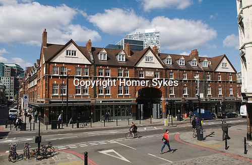 Spitalfields Old  Market Tower hamlets Lodon UK. Commerical Street E1.