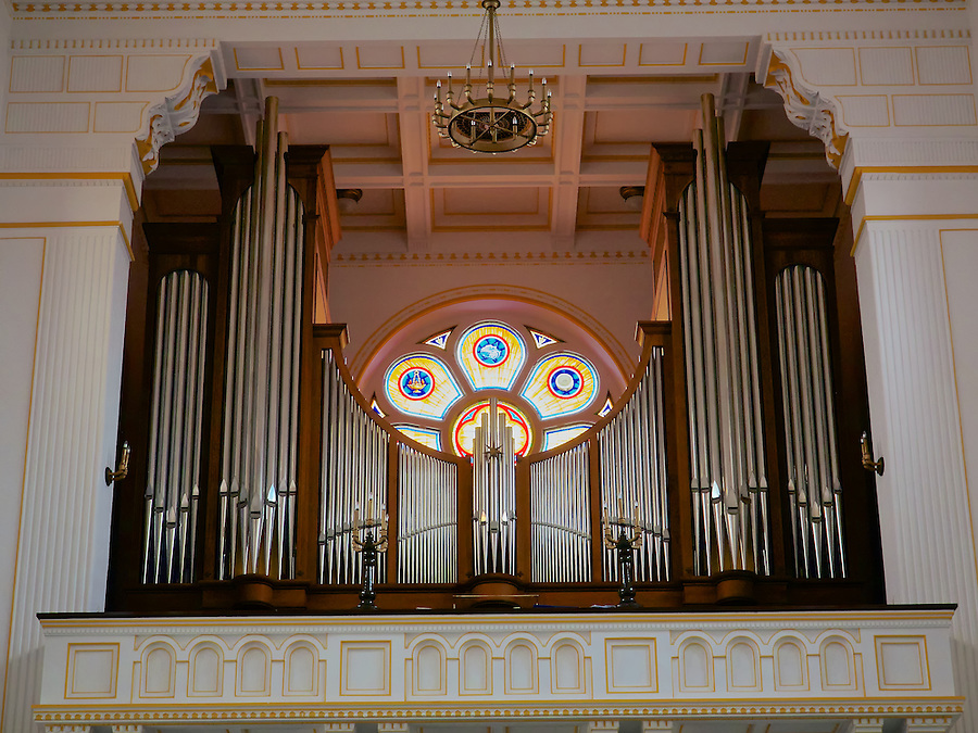 Interior Of St Michael's Cathedral.  The Jäger & Brommer Pipe Organ