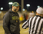 Manogue Miners Coach Ernie Howren at Spanish Springs Cougars football game played on Friday night, November 9, 2018 at Spanish Springs High School in Sparks, Nevada.
