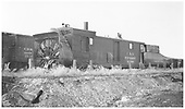 C&amp;S rotary snowplow #99200 in a yard.  A standard gauge boxcar is in the background.<br /> C&amp;S  Leadville, CO  Taken by Logue, S. L. (Les) - 6/1939