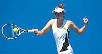 IRINA-CAMELLA BEGU (ROU) against CARLA SUAREZ NAVARRO (ESP) in the first round of the women's Singles. Carla Suarez Navarro beat Irina-Camella Begu  6-1 7-5 ..17/01/2012, 17th January 2012, 17.01.2012..The Australian Open, Melbourne Park, Melbourne,Victoria, Australia.@AMN IMAGES, Frey, Advantage Media Network, 30, Cleveland Street, London, W1T 4JD .Tel - +44 208 947 0100..email - mfrey@advantagemedianet.com..www.amnimages.photoshelter.com.