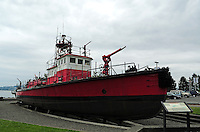 Built in 1929, Fireboat No. 1 is one of only 5 fireboats designated as a National Historic Landmark. It is in permanent dry dock on Ruston Way in Tacoma, Washington.