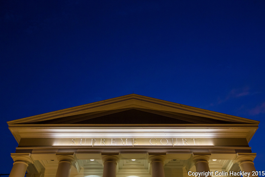 TALLAHASSEE, FLA. 7/13/15-The Florida Supreme Court building after sunset.<br /> COLIN HACKLEY PHOTO