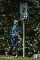 Daniel Berger (USA) watches his tee shot on 2 during round 3 of the World Golf Championships, Mexico, Club De Golf Chapultepec, Mexico City, Mexico. 3/3/2018.<br /> Picture: Golffile | Ken Murray<br /> <br /> <br /> All photo usage must carry mandatory copyright credit (&copy; Golffile | Ken Murray)
