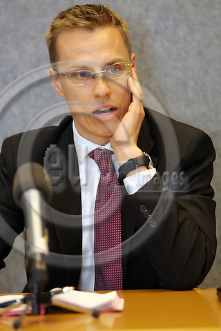 LUXEMBOURG - 29 APRIL 2008 -- Alexander STUBB Minister for Foreign Affairs of Finland. Photo: Hans Westerling/EUP-IMAGES