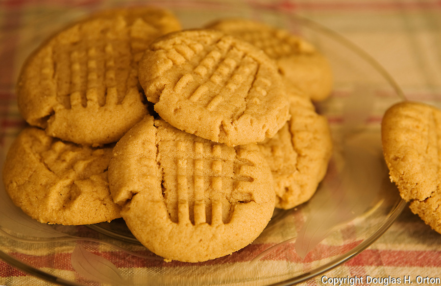 Plate of Gluten Free Peanut Butter Cookies.  Who says wheat free isn't good?