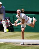 England, London, 28.06.2014. Tennis, Wimbledon, AELTC, Quarterfinal match between Lucie Safarova and Petra Kvitova, Pictured: Petra Kvitova (CZE)<br /> Photo: Tennisimages/Henk Koster
