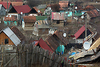 ROMANIA, 12.2008, Maierus..Gypsy ghetto of the village Maierus, Brasov county, Romania..© Egyed Ufo Zoltan / Est&Ost Photography