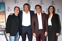 """PALM SPRINGS - JAN 11:  Adam Weinraub, Vincent Van Patten, James Van Patten, Kim Wattrip at the """"Walk to Vegas"""" World Premiere at the Richards Center for the Arts on January 11, 2019 in Palm Springs, CA"""