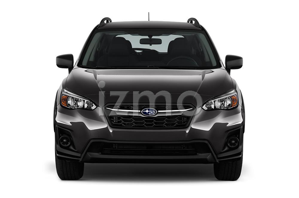 Car photography straight front view of a 2018 Subaru Crosstrek 4wd 5 Door SUV