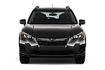 Car photography straight front view of a 2018 Subaru Crosstrek 4wd 5 Door SUV