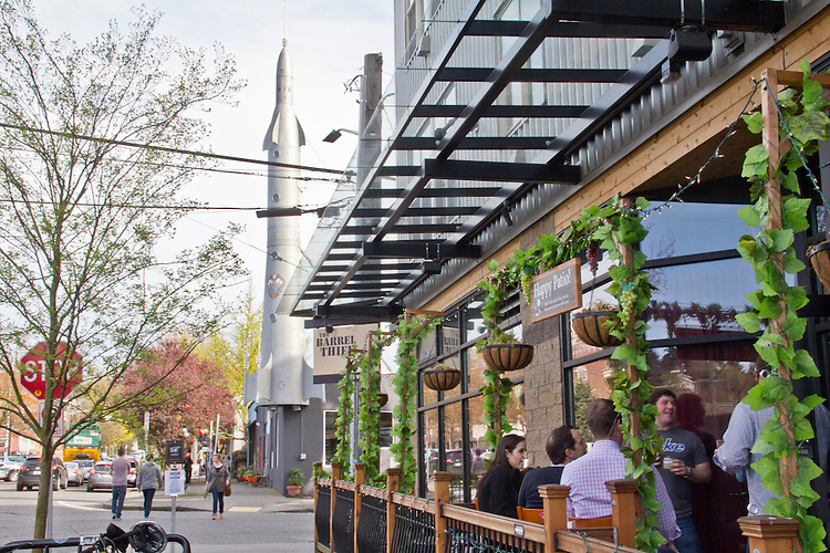 Seattle, Fremont, Fremont rocket, new restaurants, The Barrel Thief, gentrified neighborhoods,