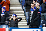 01.12.2019 Rangers v Hearts: A young Rangers supporter celebrates with his uncle after his hero Alfredo Morelos scores