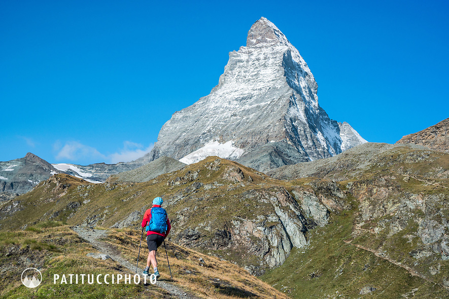 Hiking beneath the Matterhorn, Switzerland