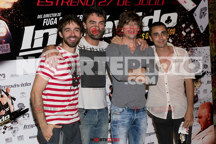 26.07.2012. Premier at Palafox Cinema in Madrid of the movie 'Impavido&acute;, directed by Carlos Theron and starring by Marta Torne, Selu Nieto, Nacho Vidal, Carolina Bona, Julian Villagran and Manolo Solo. In the image Adrian Lastra (Alterphotos/Marta Gonzalez) /NortePhoto.com <br />