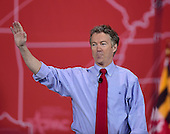 United States Senator Rand Paul (Republican of Kentucky) peaks at the Conservative Political Action Conference (CPAC) at the Gaylord National at National Harbor, Maryland on Friday, February 27, 2015.<br /> Credit: Ron Sachs / CNP