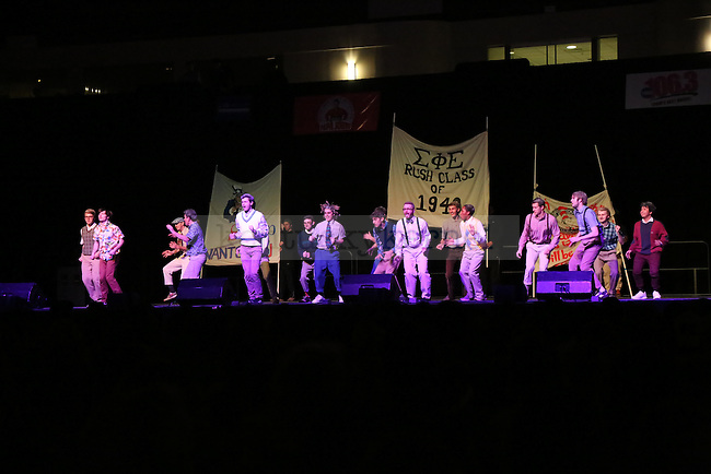 Sigma Phi Eplison and winners of Greek Sing 2015 goes 'Old School' at Greek Sing 2015 in Lexington, Ky., on (date). Photo by Lydia Emeric | Staff