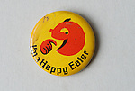 Pin button badges. I'm a Happy Eater. 1970s badge. Happy eater was fast food outlet.