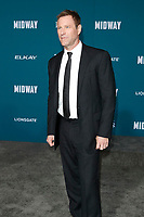"LOS ANGELES - NOV 5:  Aaron Eckhart at the ""Midway"" Premiere at the Village Theater on November 5, 2019 in Westwood, CA"