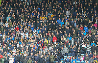 Preston North End fans watch on during the first half<br /> <br /> Photographer Alex Dodd/CameraSport<br /> <br /> The EFL Sky Bet Championship - Huddersfield Town v Preston North End - Friday 14th April 2016 - The John Smith's Stadium - Huddersfield<br /> <br /> World Copyright &copy; 2017 CameraSport. All rights reserved. 43 Linden Ave. Countesthorpe. Leicester. England. LE8 5PG - Tel: +44 (0) 116 277 4147 - admin@camerasport.com - www.camerasport.com