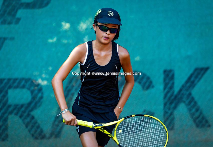 Hilversum, Netherlands, Juli 29, 2019, Tulip Tennis center, National Junior Tennis Championships 12 and 14 years, NJK, Cloë The (NED)<br /> Photo: Tennisimages/Henk Koster