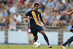 29 August 2014: Cal's Aravind Sivakumar. The University of North Carolina Tar Heels hosted the University of California Bears at Fetzer Field in Chapel Hill, NC in a 2014 NCAA Division I Men's Soccer match. North Carolina won the game 3-1.